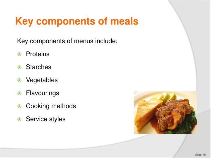 Key components of meals