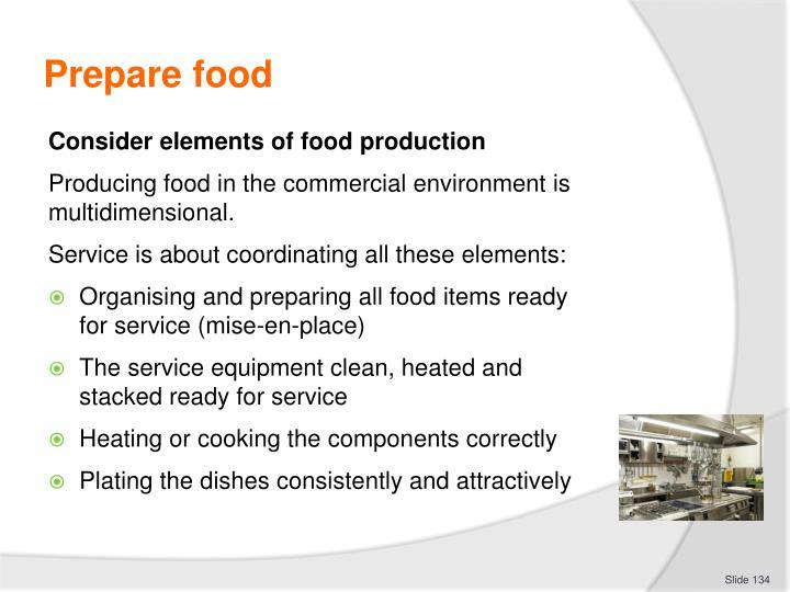 Prepare food