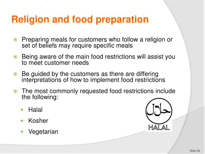 Religion and food preparation