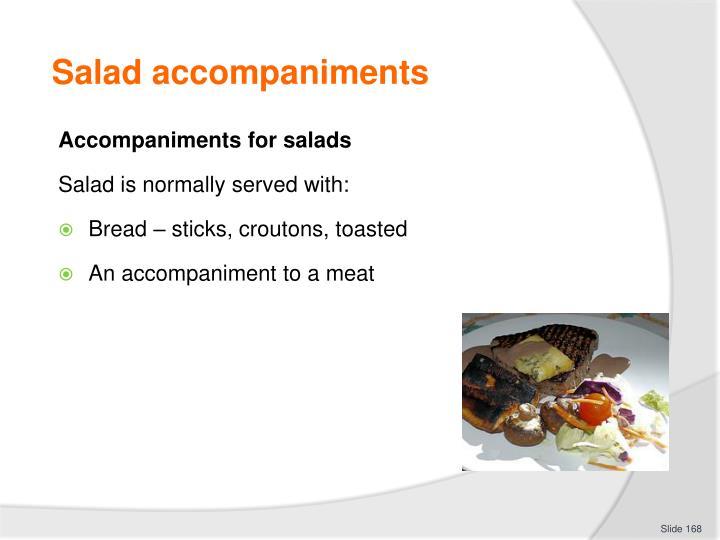Salad accompaniments