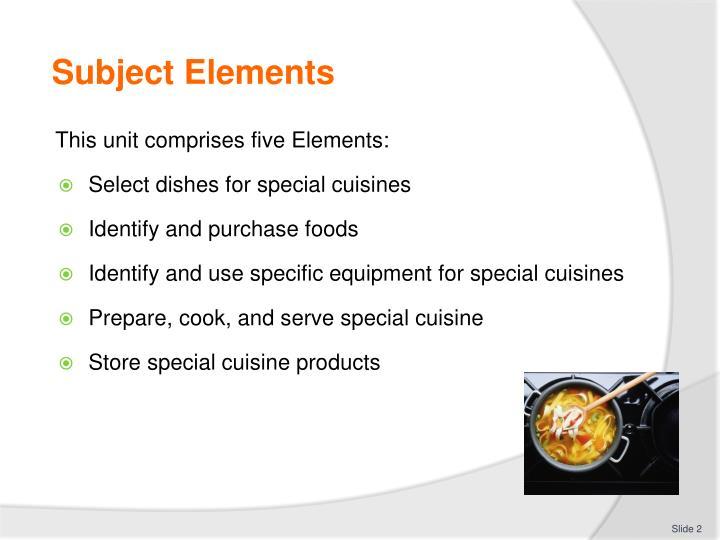 Subject Elements
