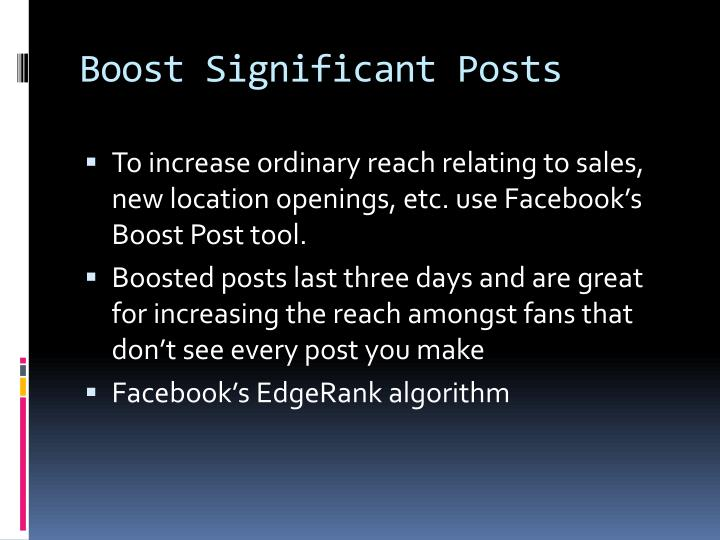 Boost Significant Posts