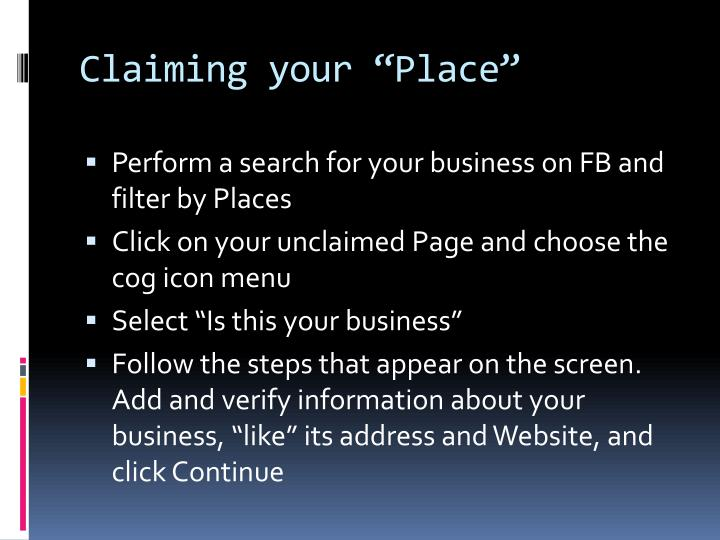 "Claiming your ""Place"""