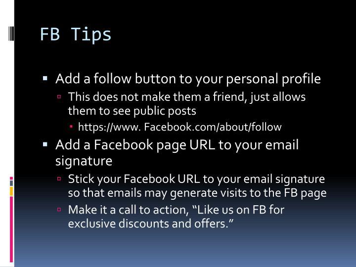 FB Tips