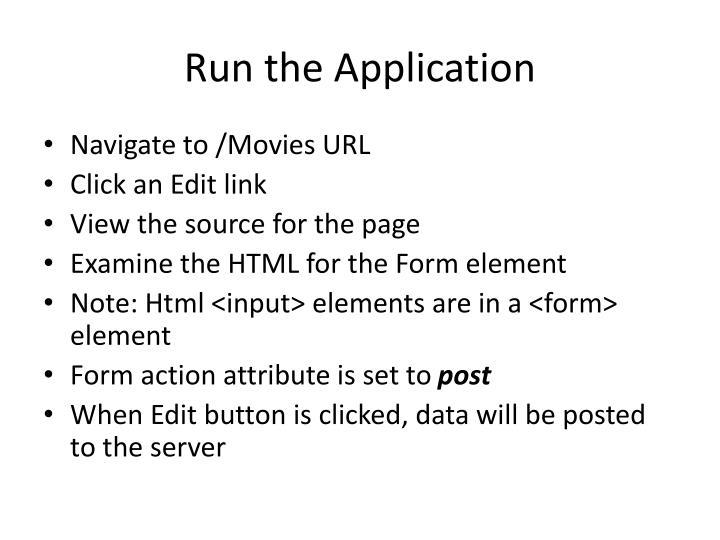 Run the Application
