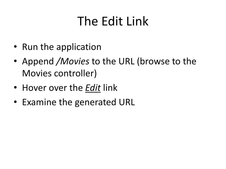 The edit link