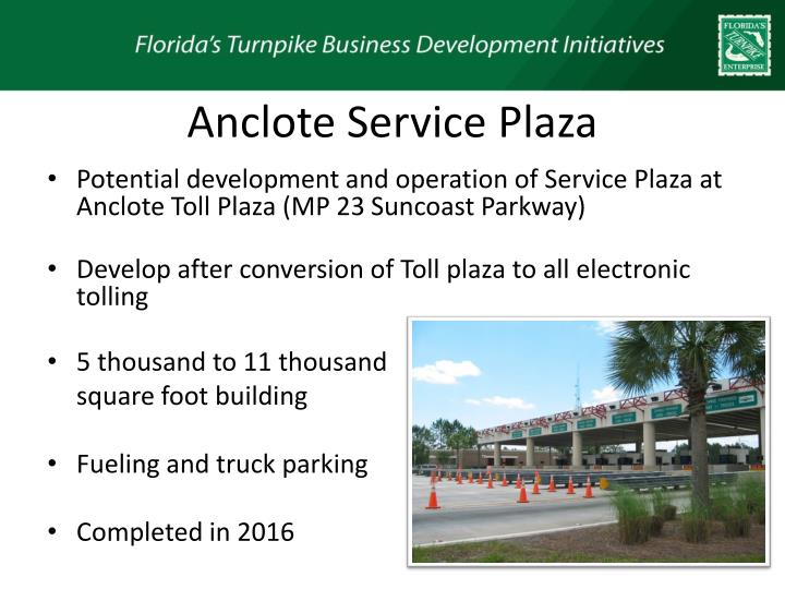 Anclote Service Plaza
