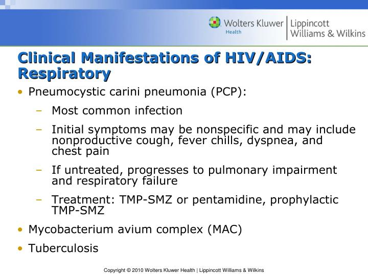Clinical Manifestations of HIV/AIDS: Respiratory