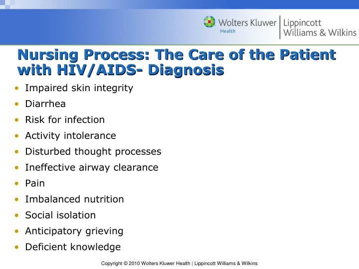 Nursing Process: The Care of the Patient with HIV/AIDS- Diagnosis