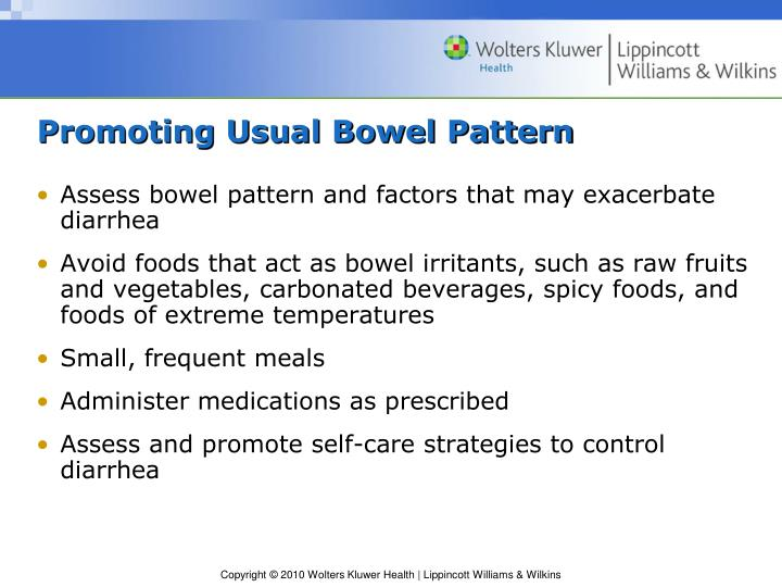 Promoting Usual Bowel Pattern