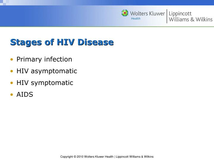 Stages of HIV Disease