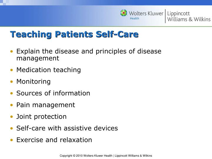Teaching Patients Self-Care