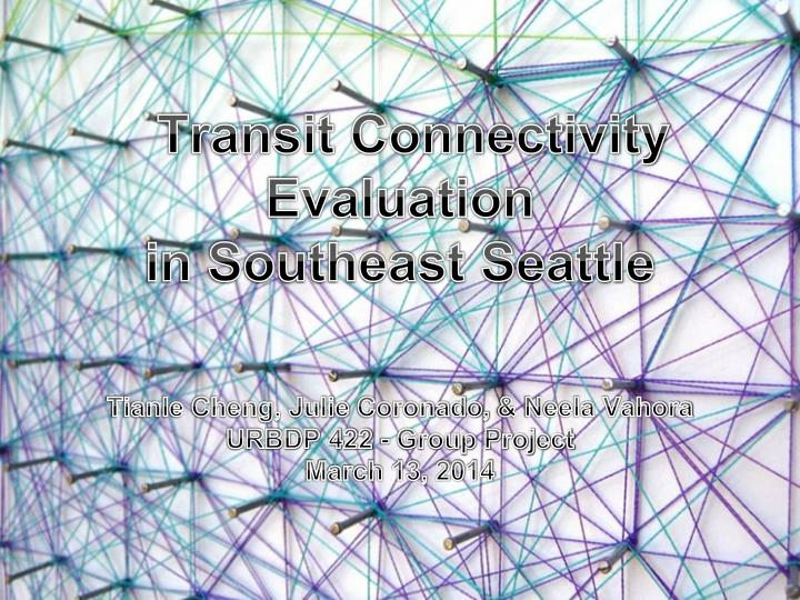 transit connectivity evaluation in southeast seattle