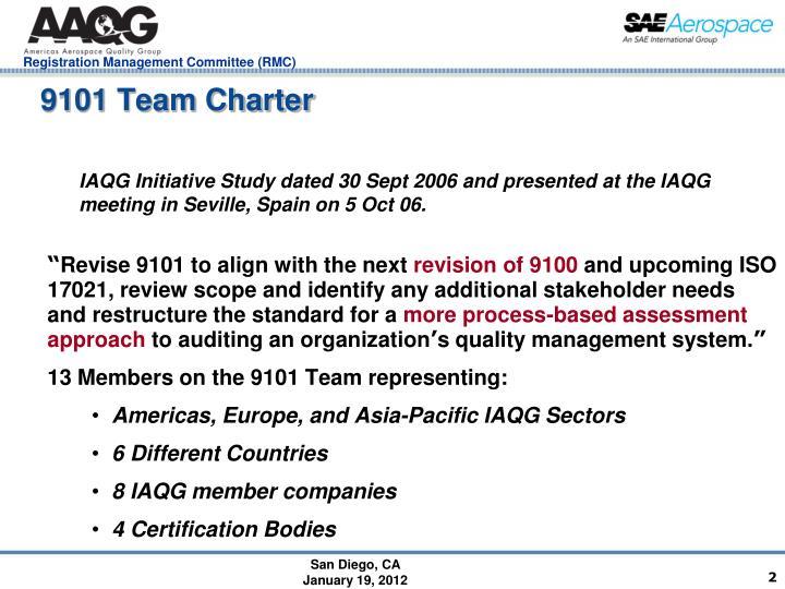 9101 Team Charter