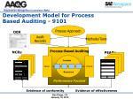 development model for process based auditing 9101