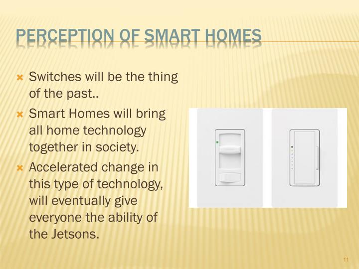 Perception of smart homes