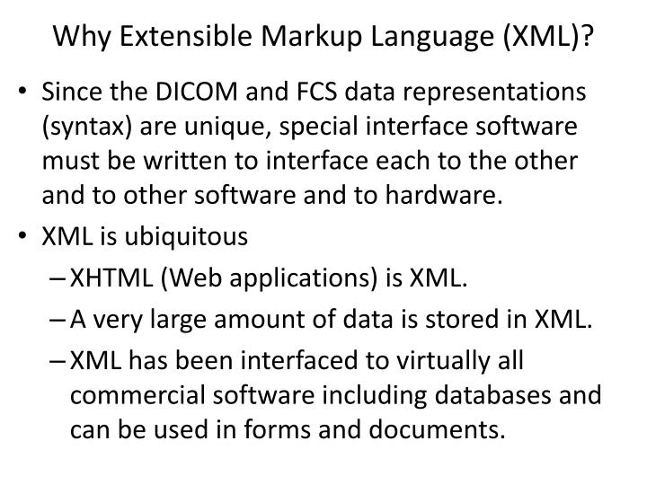 Why Extensible Markup Language (XML)?