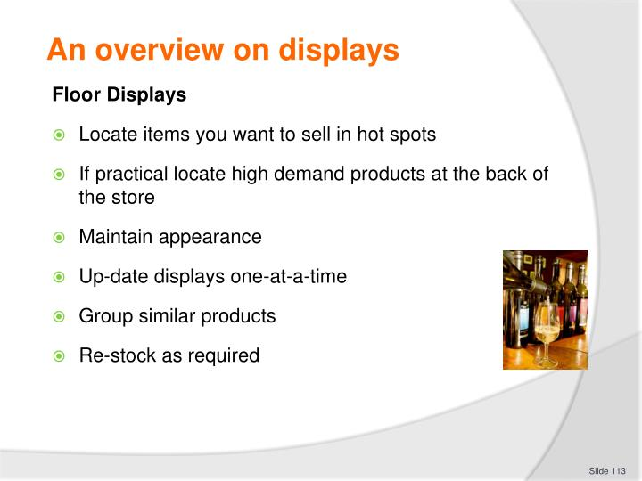 An overview on displays
