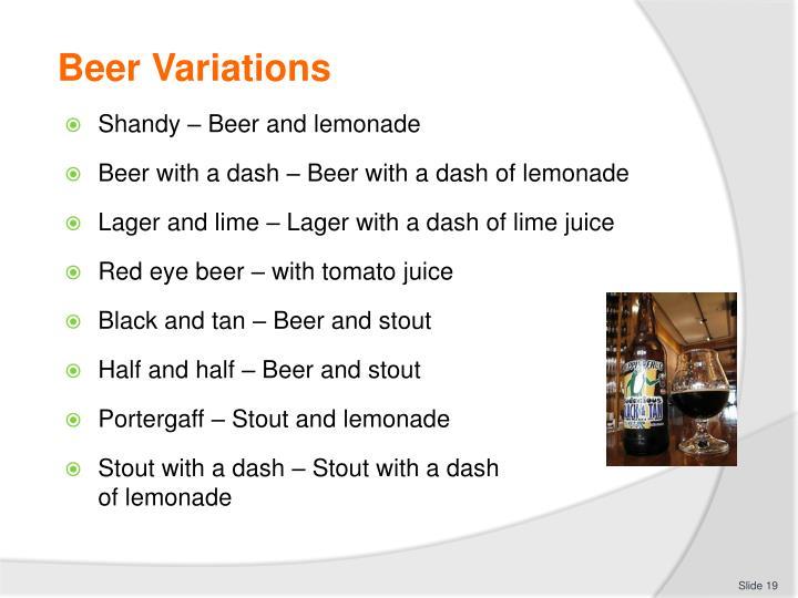 Beer Variations