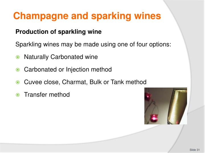 Champagne and sparking wines