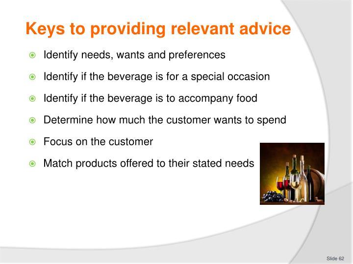 Keys to providing relevant advice