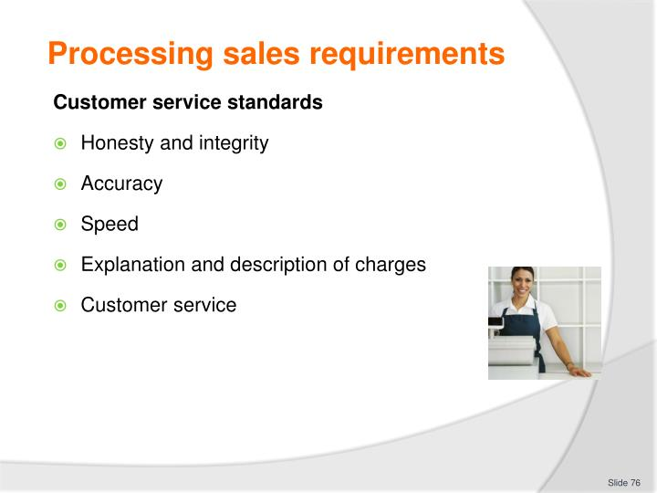 Processing sales requirements