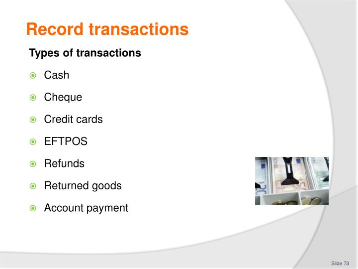 Record transactions