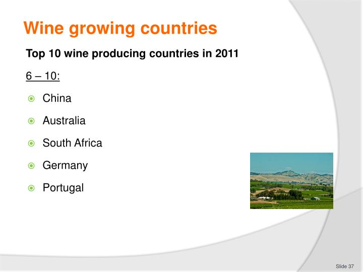 Wine growing countries