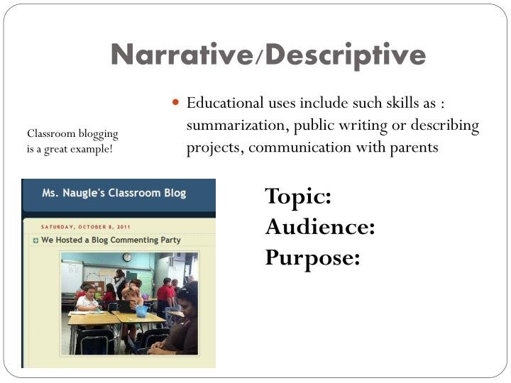 Narrative/Descriptive