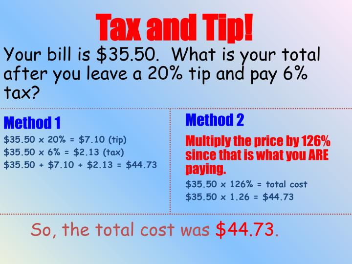 Tax and Tip!