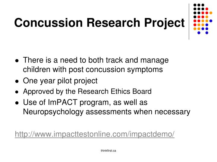 Concussion Research Project