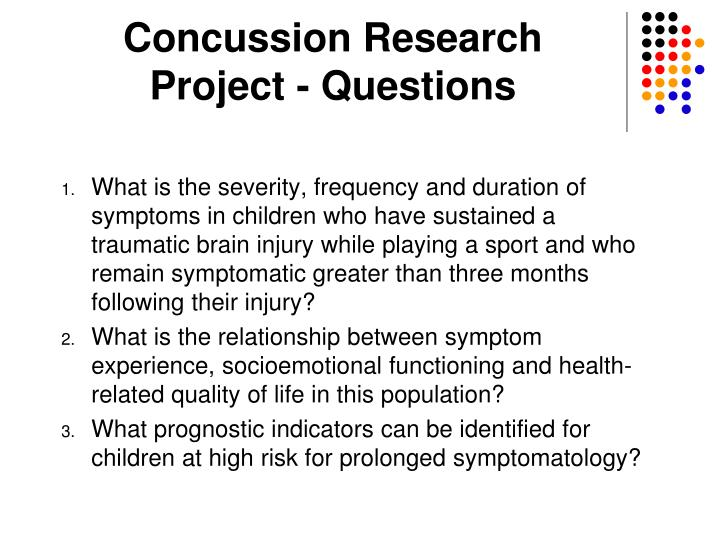 Concussion Research                Project - Questions