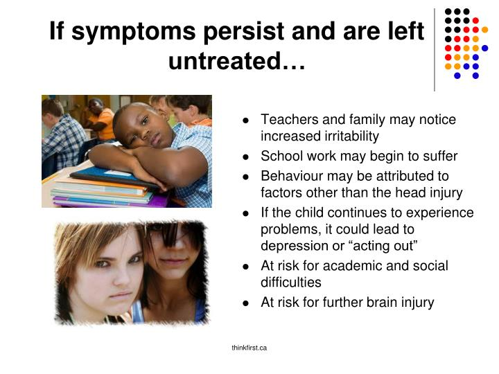 If symptoms persist and are left untreated…