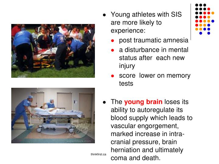 Young athletes with SIS are more likely to experience: