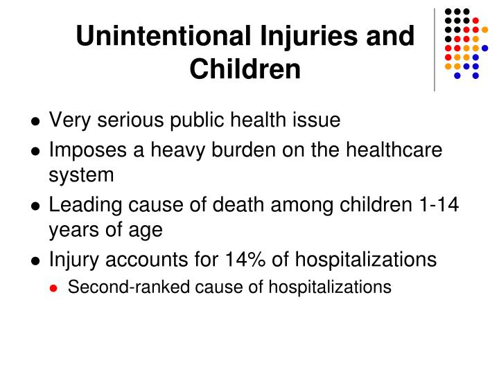 Unintentional Injuries and Children