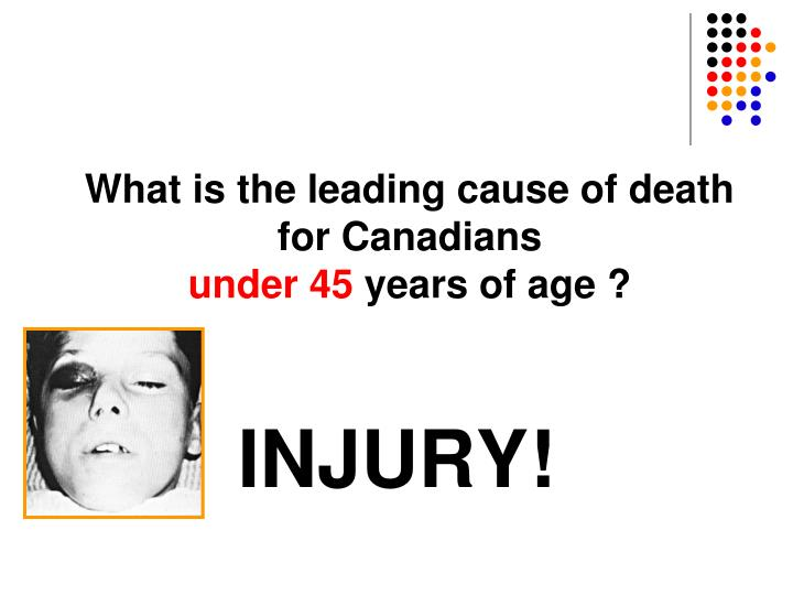 What is the leading cause of death for Canadians