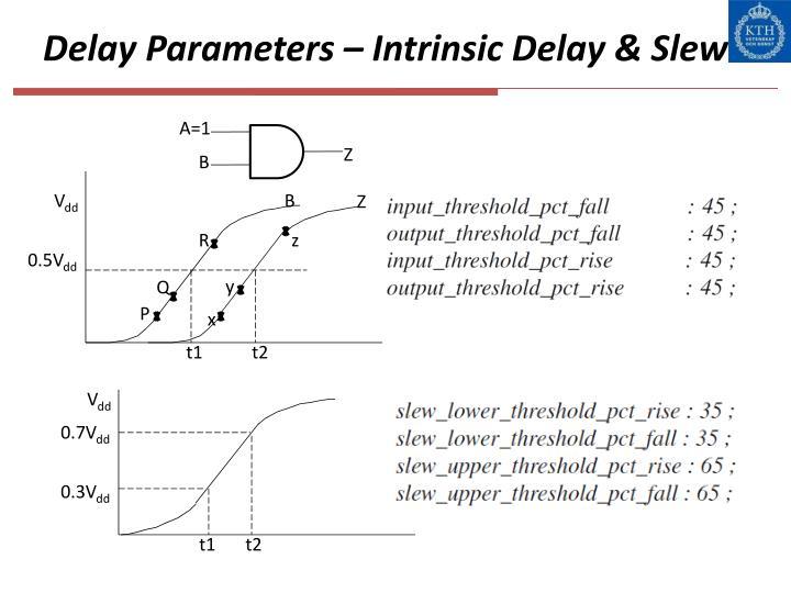 Delay Parameters – Intrinsic Delay & Slew