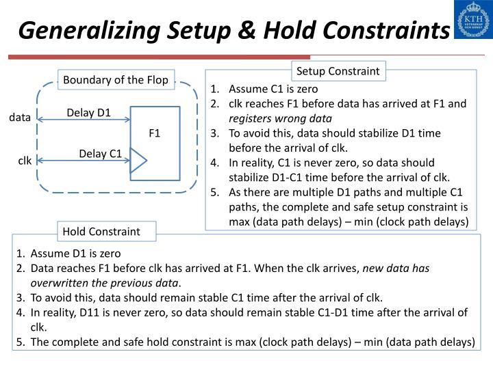 Generalizing Setup & Hold Constraints