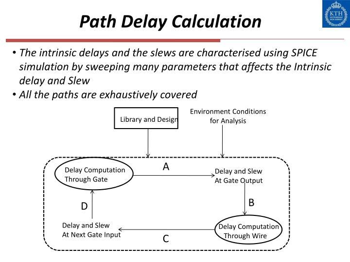 Path Delay Calculation