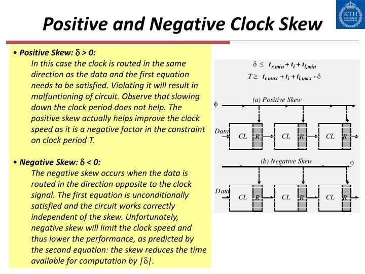 Positive and Negative Clock Skew