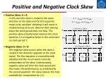 positive and negative clock skew
