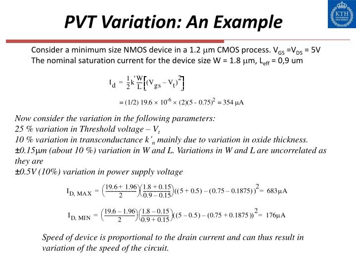 PVT Variation: An Example