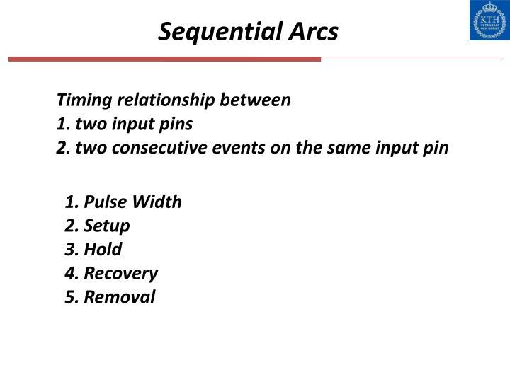 Sequential Arcs