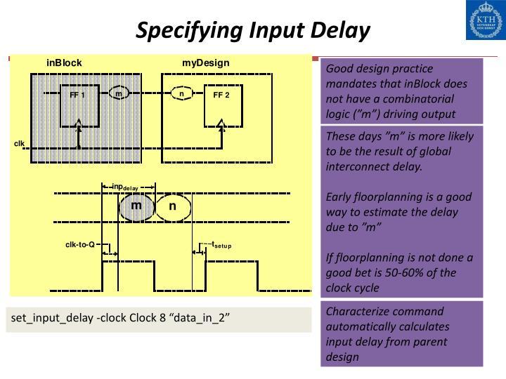 Specifying Input Delay