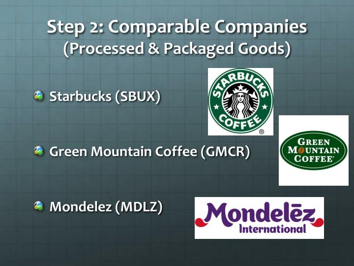 Step 2: Comparable Companies