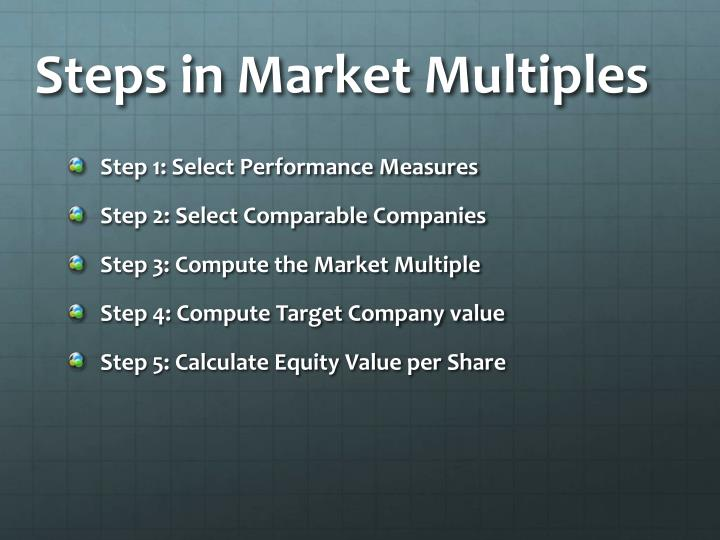 Steps in Market Multiples