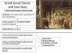 greek social classes and civic duty