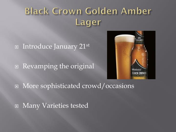 Black Crown Golden Amber Lager