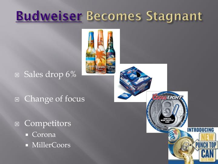 Budweiser becomes stagnant