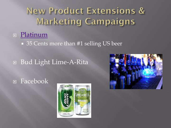 New product extensions marketing campaigns